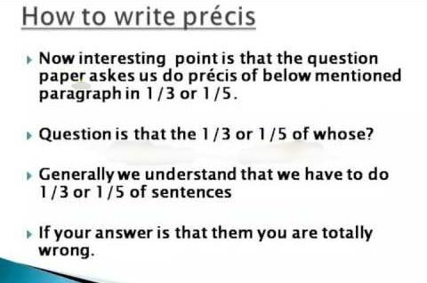 If You do not Know how to Write a Precis, Come to Us for Expert Help
