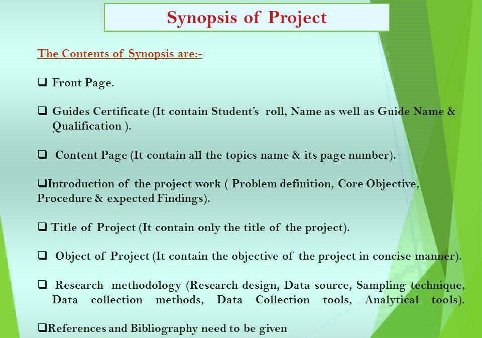 What Is Research Project Synopsis Writing Find Out More With Us