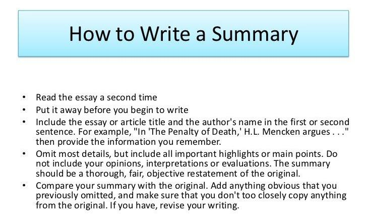 How to Write a Summary: Great Help from Experts